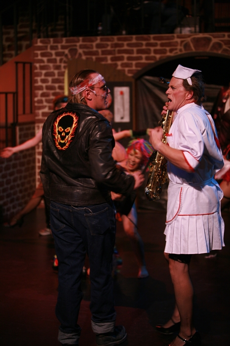 Charlie Deagnon and Michael Brown in Rocky Horror Show