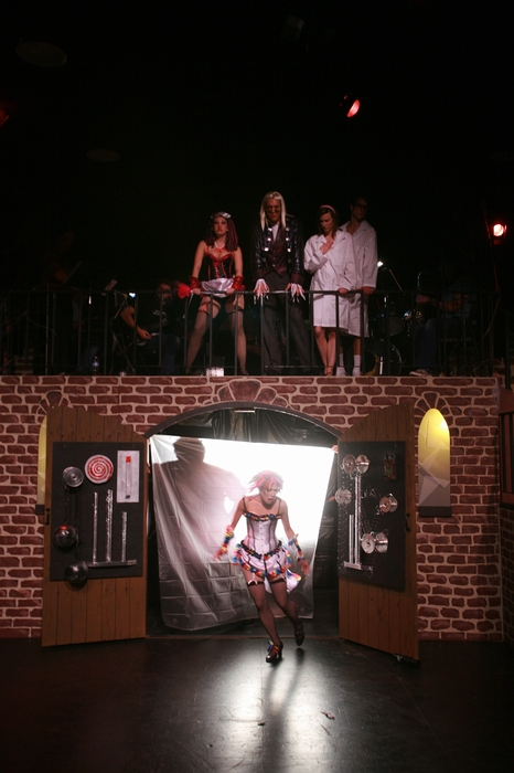 Ginette Simonot, Shana Nowlin, Berkeley Pickell, Angela Valiant and Kevin Trumble in Rocky Horror Show