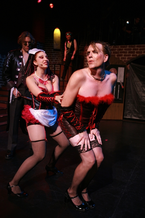 Berkeley Pickell, Shana Nowlin, Janos Zeller and Michael Brown in Rocky Horror Show