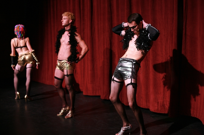 Ginette Simonot, Doug Keeling and Kevin Trumble in Rocky Horror Show