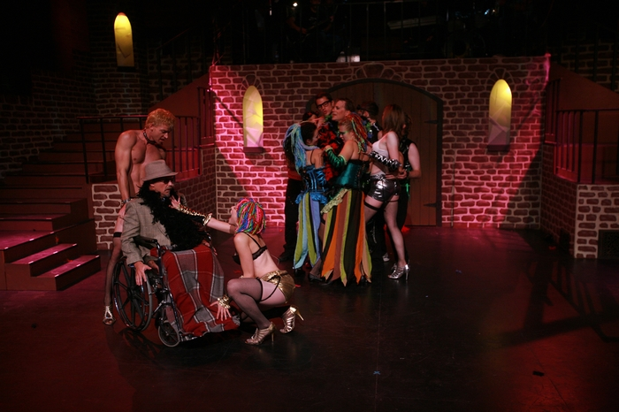 Doug Keeling, Roy Styan, Ginette Simonot, Danielle Desmarais, Kevin Trumble, Michael Brown, Tanis Laatsch and Angela Valiant in Rocky Horror Show