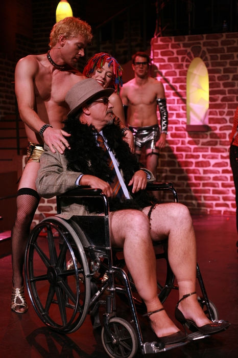 Doug Keeling, Roy Styan, Ginette Simonot and Kevin Trumble in Rocky Horror Show