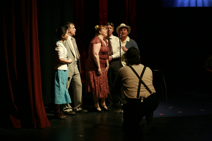 Jennifer Dueck, Roy Styan, Jill Howell-Fellows, Todd Pearson and Murray Melnychuk in Assassins