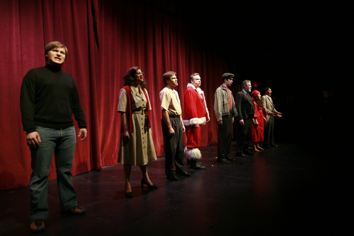 Joel Schaefer, Chloe Marshall, Van Ridout, Joe White, Nick Driscoll, Brian Unterschultz, Shelby Leiding and Janos Zeller in Assassins