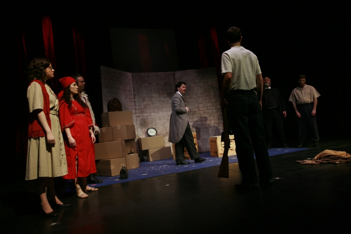 Chloe Marshall, Shelby Leiding, Joe White, Janos Zeller, Bryan Smith, Brian Unterschultz and Van Ridout in Assassins