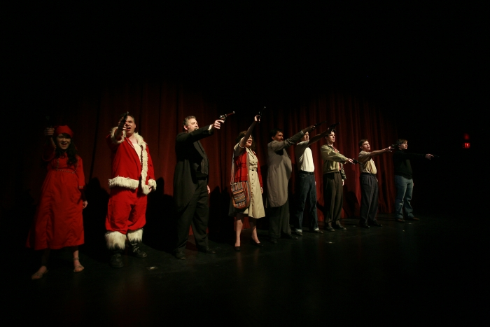 Shelby Leiding, Joe White, Brian Unterschultz, Chloe Marshall, Janos Zeller, Bryan Smith, Nick Driscoll, Van Ridout and Joel Schaefer in Assassins