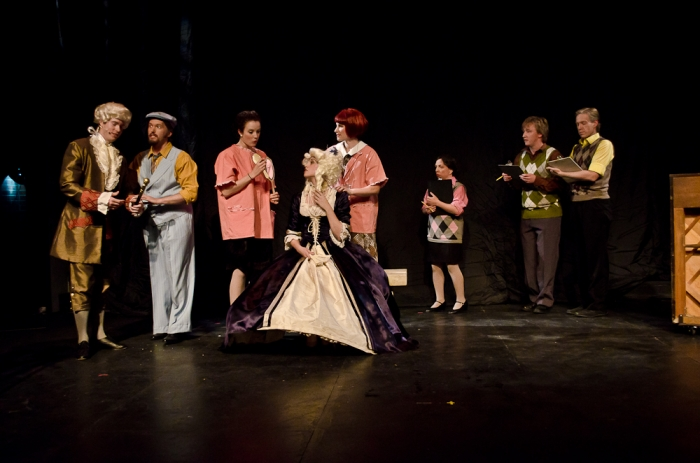 Jarryd Baine, Janos Zeller, Danielle Desmarais, Bethany McNab, Terra Plum, Jeri Wallis, David Mottle and Jamie Eastgaard-Ross in Singin' in the Rain