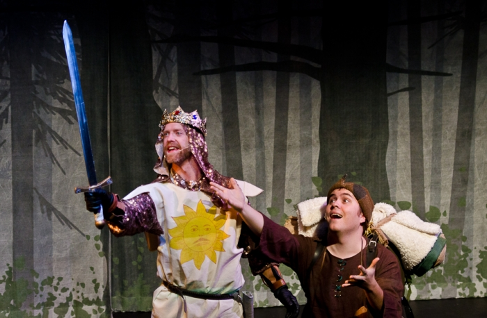 Mike Beattie and Colton Duane in Monty Python's Spamalot