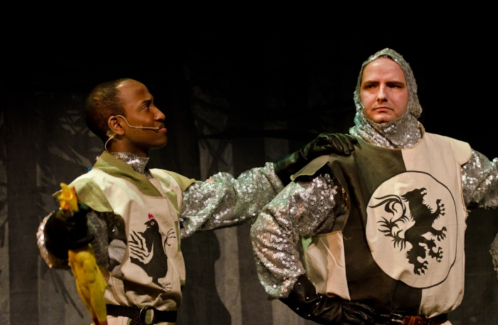 Tenaj Williams and James McGowan in Monty Python's Spamalot