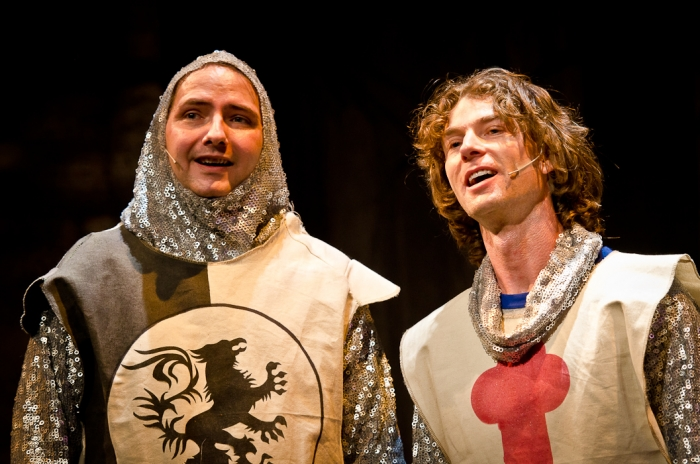 James McGowan and Doug Keeling in Monty Python's Spamalot