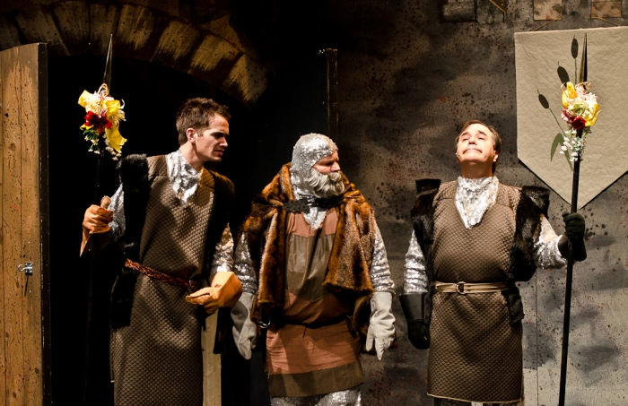 Jeff Wiseman, Brian Thiele and Murray Melnychuk in Monty Python's Spamalot