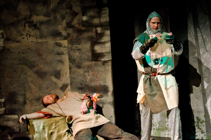 Colin Lowe and James McGowan in Monty Python's Spamalot