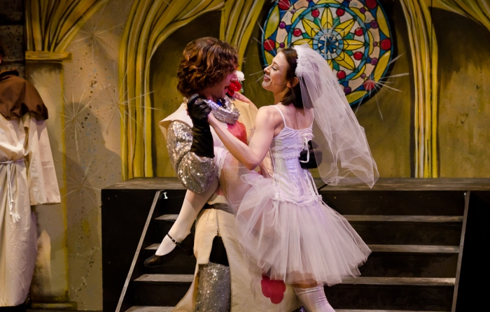 Doug Keeling and Ginette Simonot in Monty Python's Spamalot