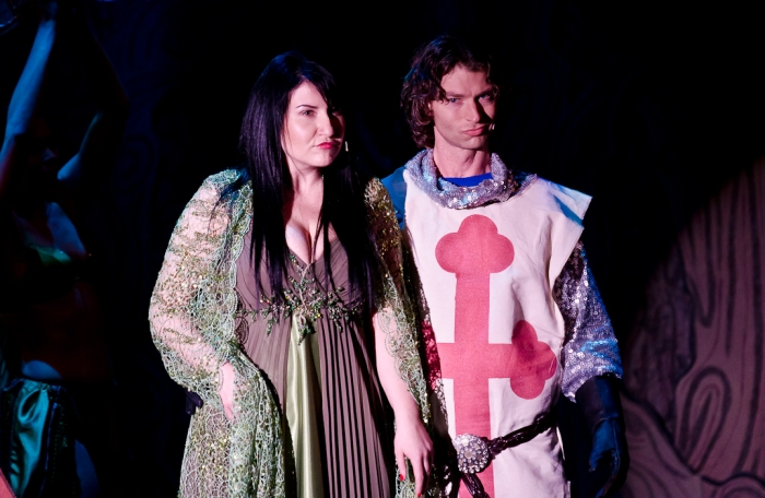 Carlyn Miller and Doug Keeling in Monty Python's Spamalot