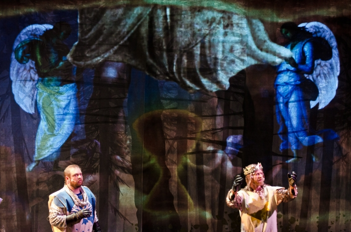 Colin Lowe and Mike Beattie in Monty Python's Spamalot