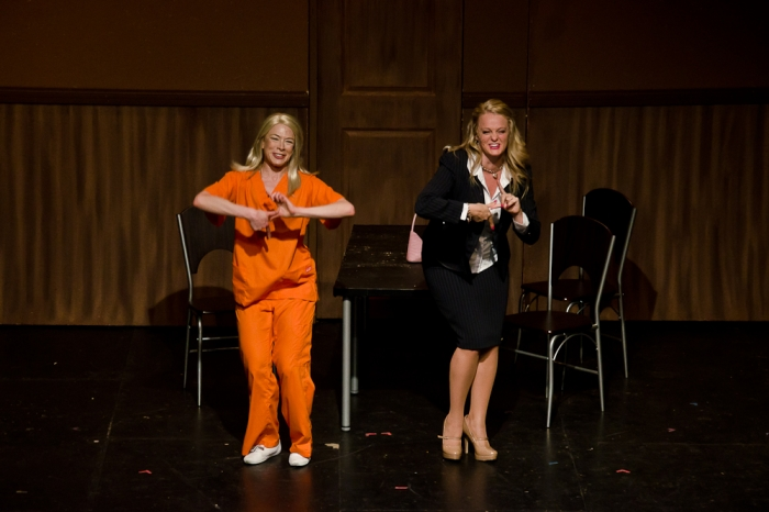 Ginette Simonot and Ainsley Ohler in Legally Blonde