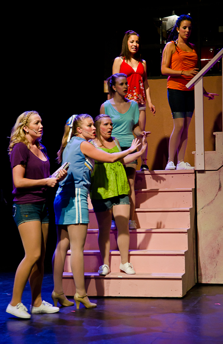Eden Hildebrand, Tanis Laatsch, Meaghan Hommy, Liz Lipton, Sandra Escobedo and Danielle Desmarais in Legally Blonde