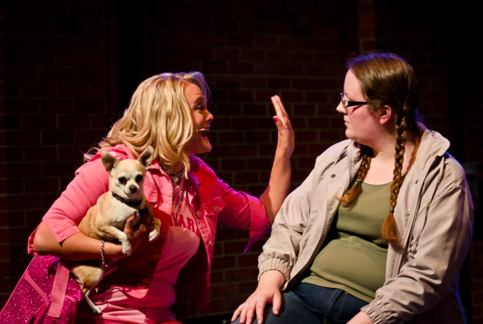 Ainsley Ohler, Griffyndor (Dog) and Diana Venzi in Legally Blonde