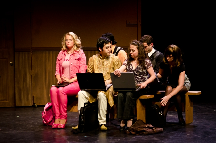 Ainsley Ohler, Matthew McDonald and Jeri Wallis in Legally Blonde