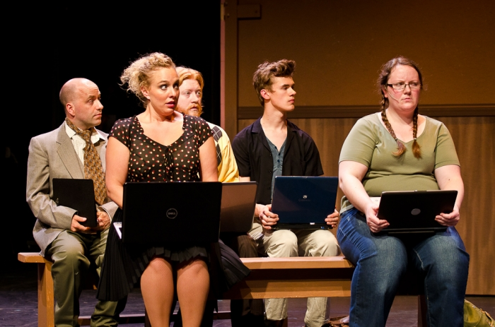 Jason Goethals, Lyndsey Paterson, Bryan Weir, Adam Kieran and Diana Venzi in Legally Blonde