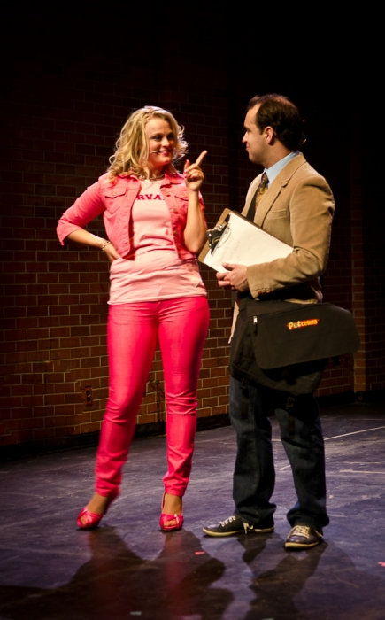 Ainsley Ohler and Philip Frias in Legally Blonde