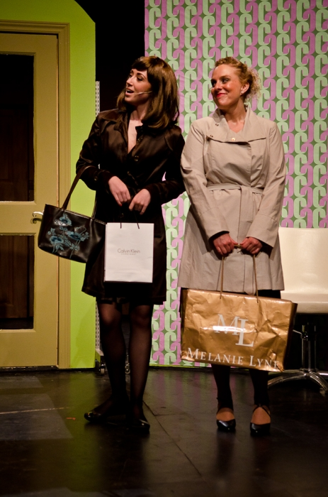 Keirstyn Secord and Lyndsey Paterson in Legally Blonde
