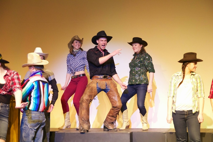 Allison Tennent, Doug Keeling, Chelsea Millard and Nicole Dickinson in Footloose