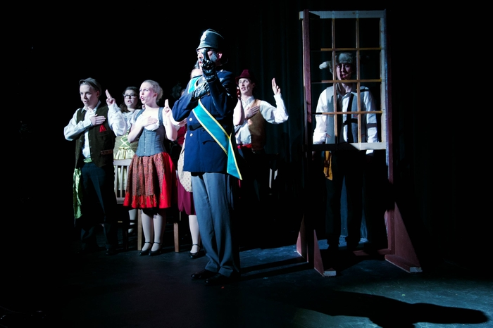 Christopher Mavin, Mollie-Risa Chapin, Liz Lipton, Bruce Fraser, Lucas Seeger and Cody Field in Young Frankenstein