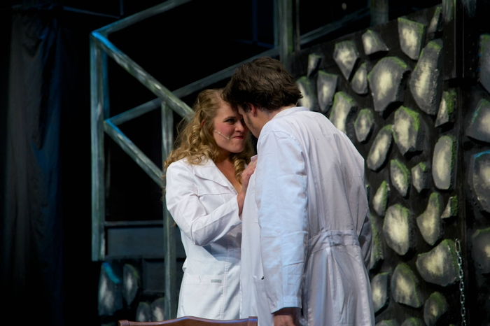 Tanis Laatsch and Mike Sornberger in Young Frankenstein