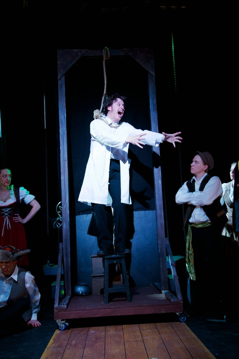 Kara Chapman, Cody Field, Mike Sornberger and Christopher Mavin in Young Frankenstein