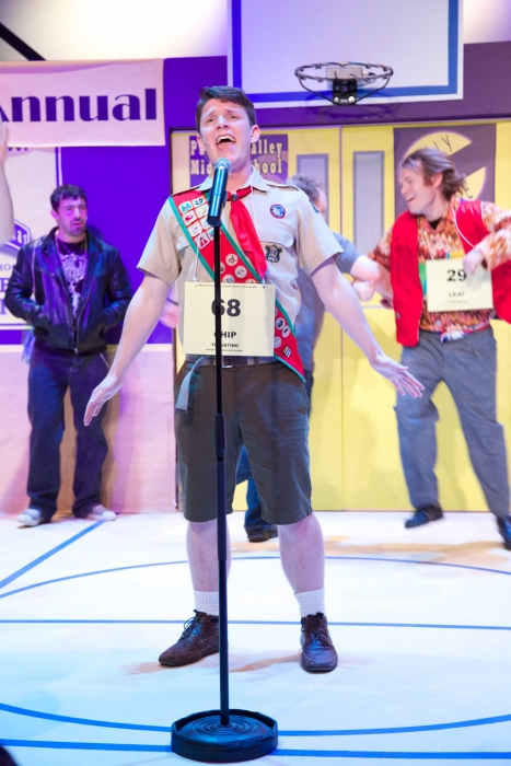 Jason Lemmon, Andrew Stewart and Darren Stewart in The 25th Annual Putnam County Spelling Bee