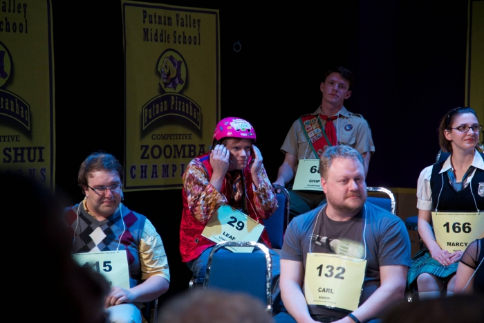 Tim Vollhoffer, Darren Stewart, Andrew Stewart and Amy Tollefson in The 25th Annual Putnam County Spelling Bee