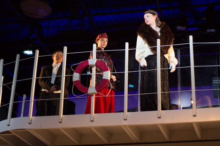 Jenna Fraser, Mikee Ames and Daniel Ripley in Anything Goes