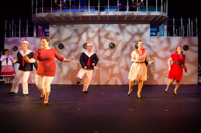 Cody Field, Matthew McDonald, Vicki Trask, Mikee Ames and Jenna Fraser in Anything Goes