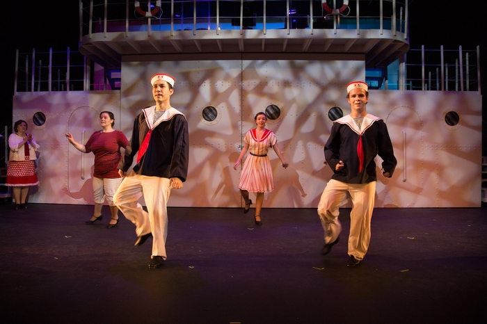 Vicki Trask, Jenna Fraser, Thompson Harper and Matthew McDonald in Anything Goes