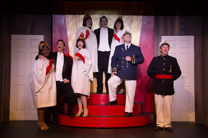 Jessica Jones, Bruce Fraser, Chelsea Wellman, Meg Thatcher, Darren Stewart, Nicole Bouwman, David Young and David Mottle in Anything Goes