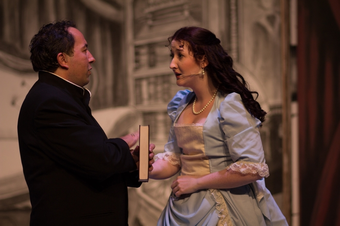 Steven Eastgaard-Ross and Nicole Heide in The Mystery of Edwin Drood