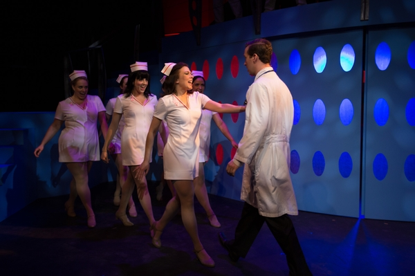 Lyndsey Paterson, Bryan Smith, Danielle Desmarais, Nicole Bouwman and Ginette Simonot in Catch Me If You Can