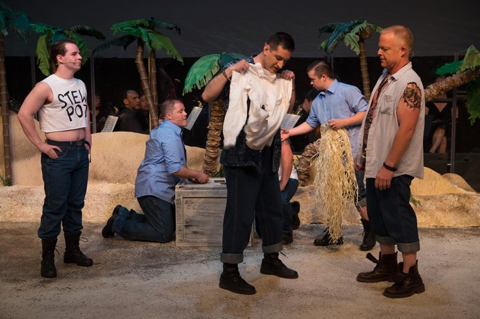 Thompson Harper, Scott Fea, David Valentin Zapien Mercado, Daniel Ripley and Rich Davis in South Pacific