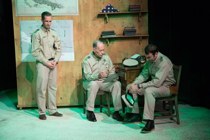 Micheal Burritt, Tim Elliott and Fadi Saghir in South Pacific