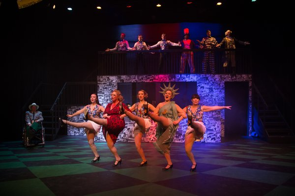 Jenna Fraser, Lyndsey Paterson, Christine Mooney, Tanis Laatsch and Ashlyn Beatty in Reefer Madness