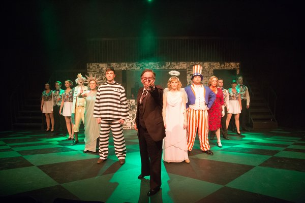 Tanis Laatsch, Forrest Tymchuk, Janos Zeller, Jamie Robinson, Riley Galarneau and Lyndsey Paterson in Reefer Madness