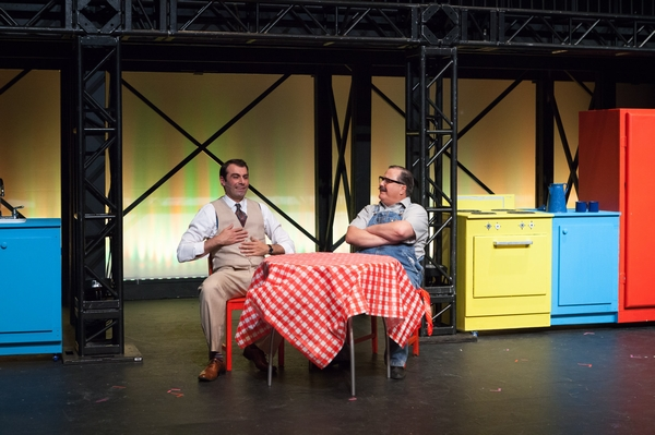 Fadi Saghir and Murray Melnychuk in The Pajama Game