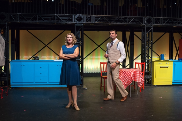 Tanis Laatsch and Fadi Saghir in The Pajama Game