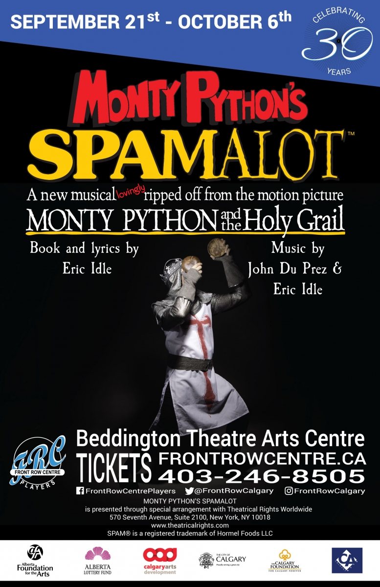 Poster for Monty Python's Spamalot